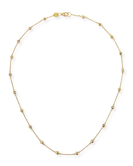 Jude Frances 18k Gold Diamond By-the-Yard Necklace, 16""