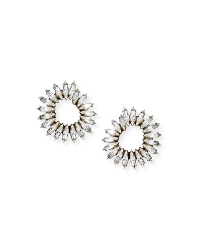Vivian Clear Crystal Hoop Earrings