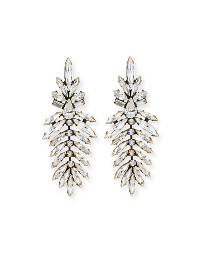 AUDEN Emerson Marquis Crystal Drop Earrings