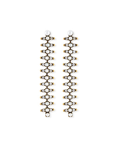 Holloway Linear Pearly Crystal Earrings