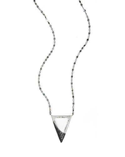 Reckless Crystal Charm Necklace with Black Diamonds