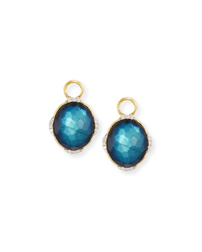 Lisse Midnight Labradorite & Onyx Earrings Charms with Diamonds