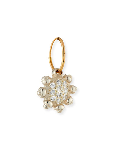 Pavé Crystal Single Earring with Crystals