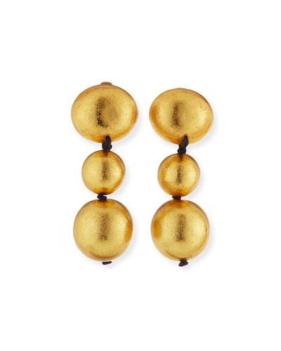 Viktoria Hayman Laminated Gold Foil Petal Earrings vJ2At