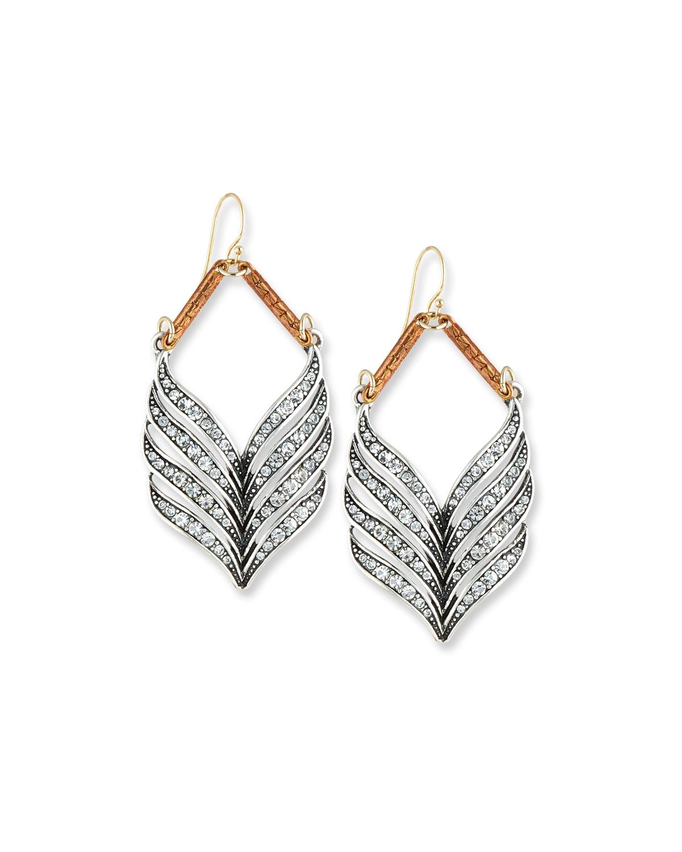 Symmetry Crystal Statement Earrings