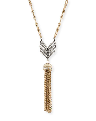 Symmetry Tassel Pendant Necklace