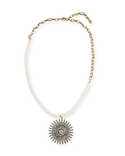 Beacon Starburst Pendant Necklace w/ Pearls