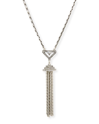 Lucent Crystal Tassel Pendant Necklace