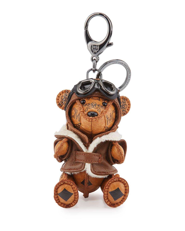 Aviator Bear Charm for Handbag