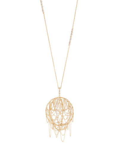 Chain Fringe Pendant Necklace