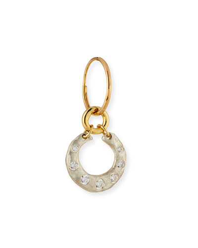 Crescent Single Earring with Crystals