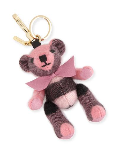 Thomas Bear Check Cashmere Bag Charm