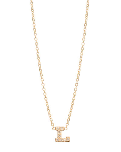 Pavé Diamond Initial Pendant Necklace