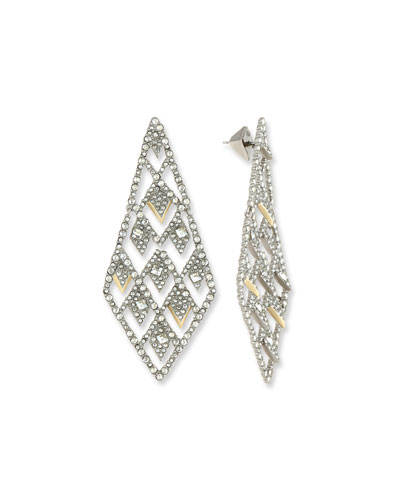 Crystal Lattice Drop Earrings
