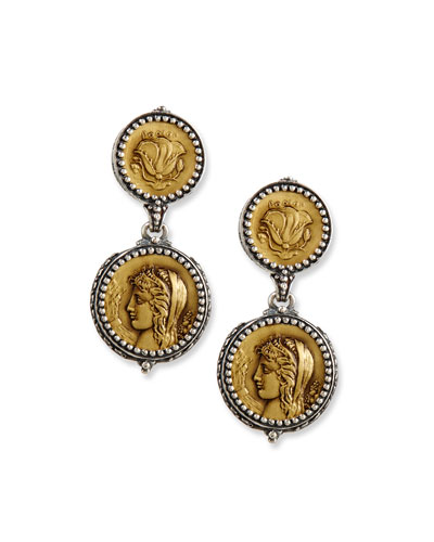 Demeter Coin Drop Earrings