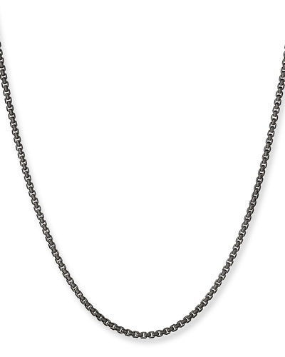 Box Chain Necklace, 2.7mm, 36