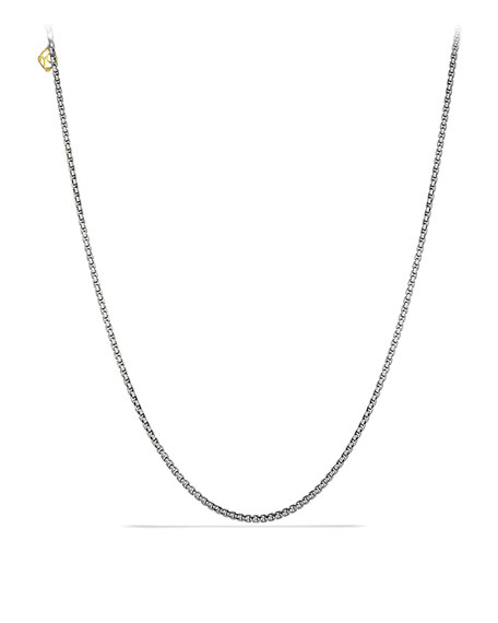 "David Yurman Small Box Chain, 18""L"