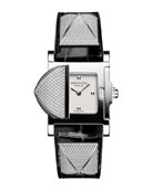 Medor Mini Watch with Diamonds & Black Alligator Strap