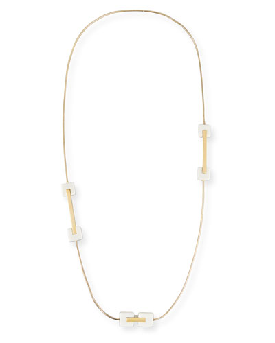 Cubana Long Station Necklace, Ivory
