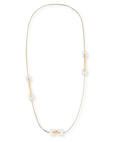 Cubana Long Station Necklace, Ivory
