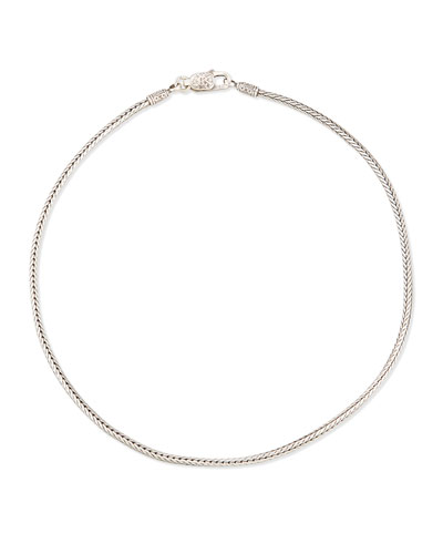 Sterling Silver Wheat Chain, 18