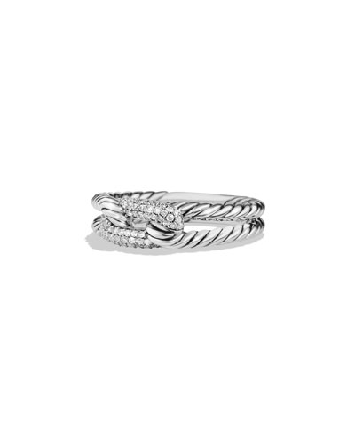 Petite Pave Diamond Loop Ring