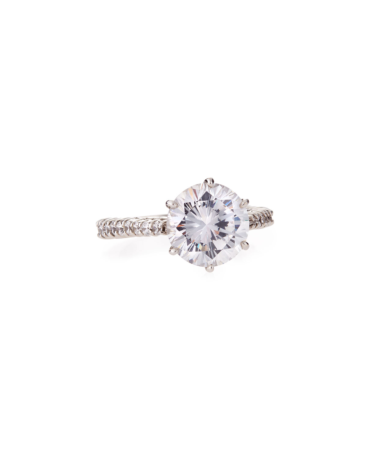 5.25 TCW Cubic Zirconia Solitaire Ring