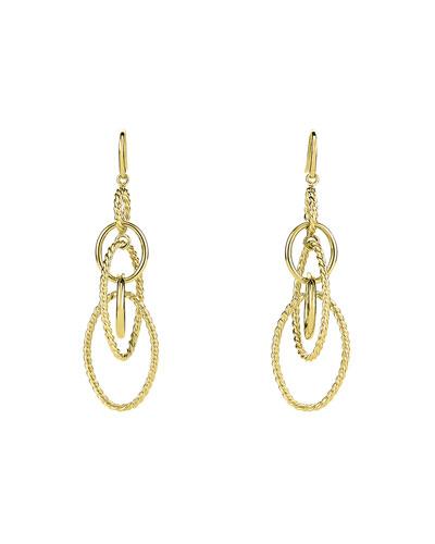 Mobile Large Link Dangle Earrings in 18K Gold
