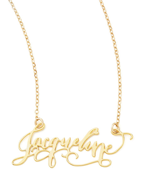 Brevity Personalized Gold-Plate Call