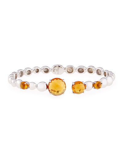 Molten Hinge Bangle with Citrine
