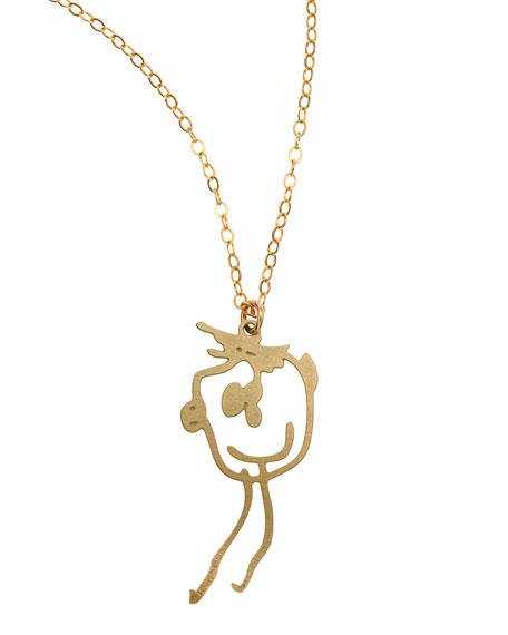 Brevity Custom Drawing Necklace