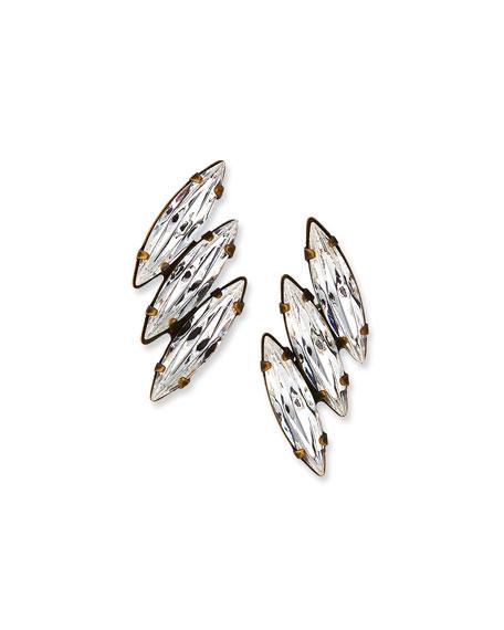 Auden Vivian 3-Crystal Stud Earrings
