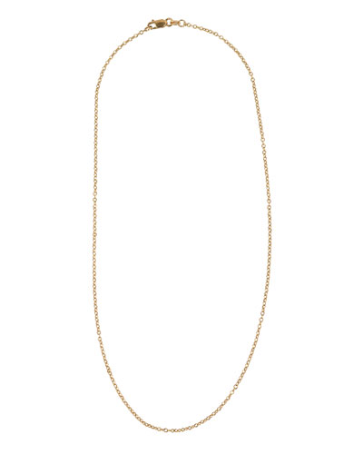 18k Yellow Gold Petite Chain Necklace, 16