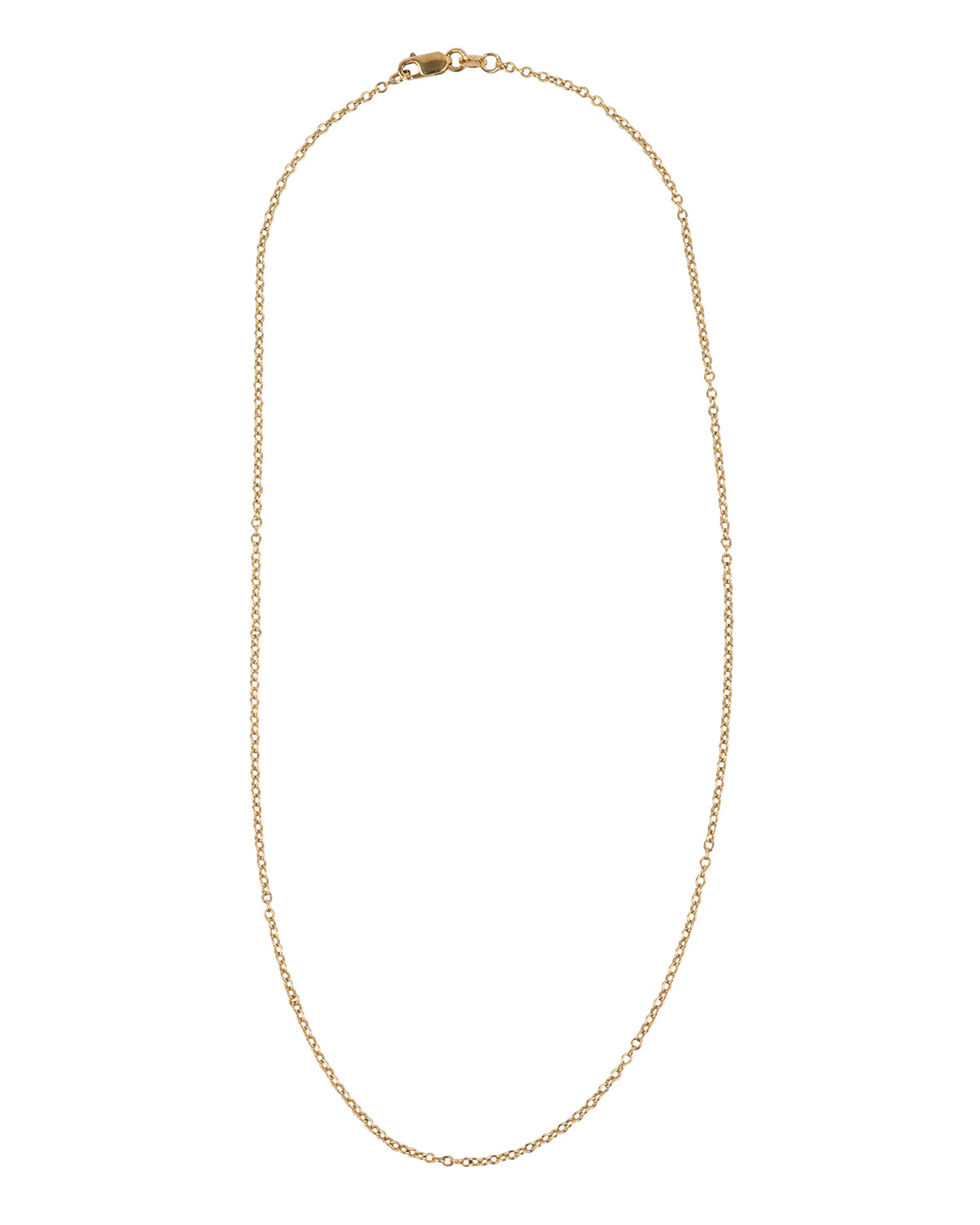 "KONSTANTINO 18K YELLOW GOLD PETITE CHAIN NECKLACE, 16""L"