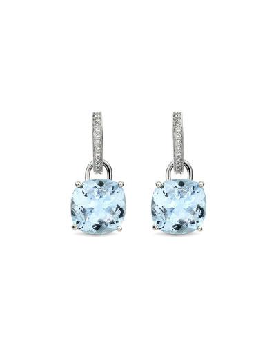 Eternal 18k White Gold Topaz Diamond Earrings