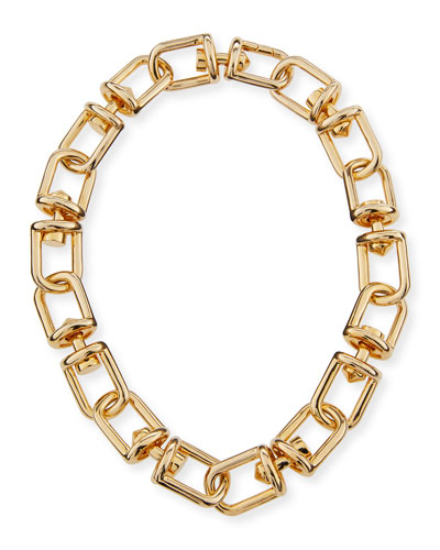 Fame Link Necklace, Golden