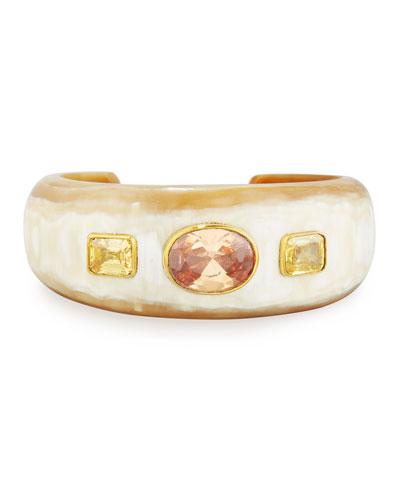 Uhuni Light Horn & Crystal Cuff Bracelet