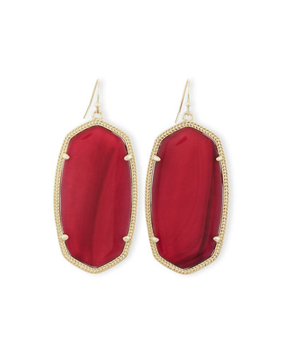 Danielle Earrings, Burgundy Illusion