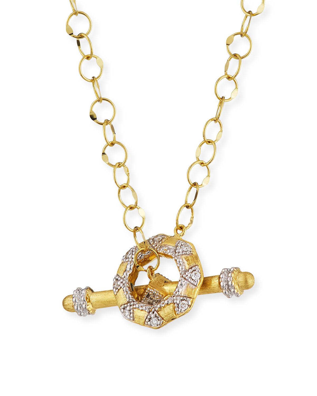 Lisse 18k Diamond Toggle Necklace