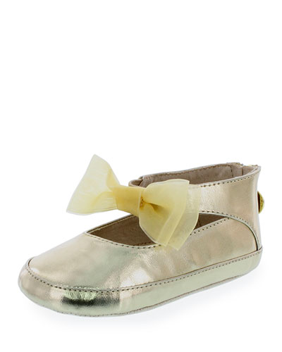 Baby Nantucket Faux-Leather Mary Jane, Gold, Infant