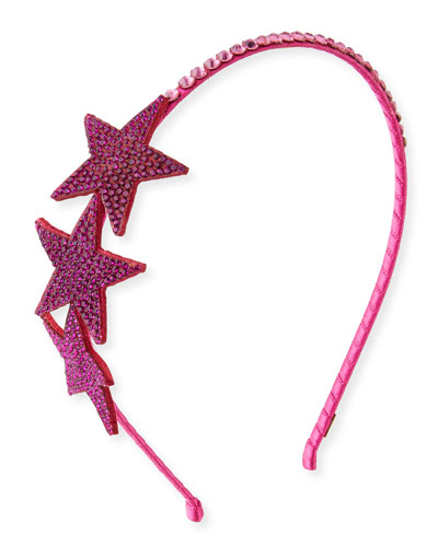 Embellished Star Rhinestone Headband, Fuchsia