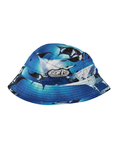 Niks Stingray Sun Hat, Blue Pattern, Size 3-8