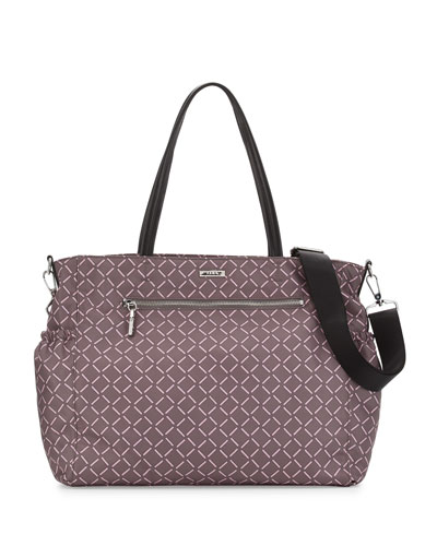 Printed Diaper Bag, Gray