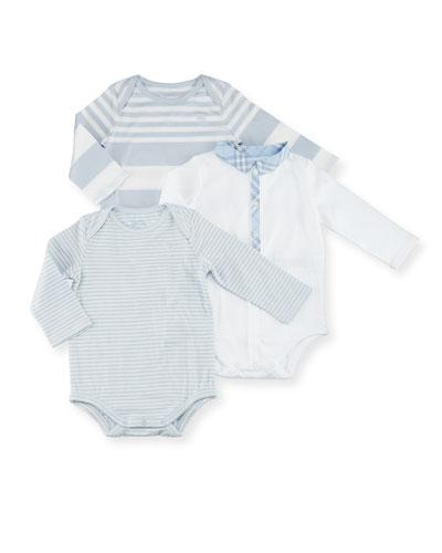 Maxina Set 1 Long-Sleeve Layette, Blue, Size Newborn-12 Months