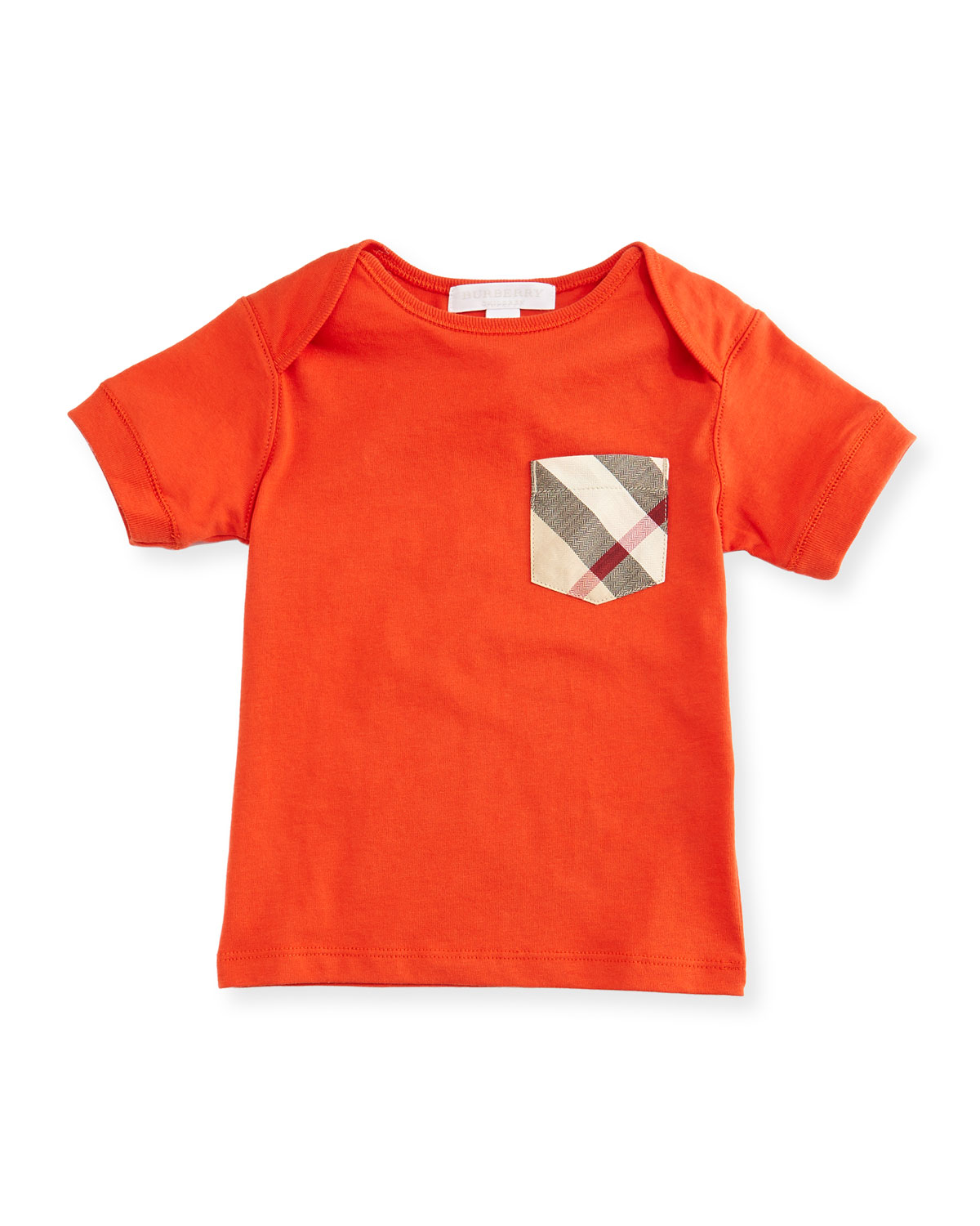 Callum Short-Sleeve Jersey Tee, Red-Orange, Size 6M-3