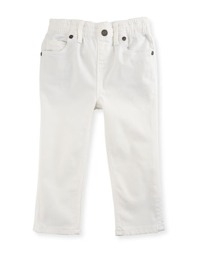 Lois Straight-Leg Stretch Jeans, White, Size 6M-3