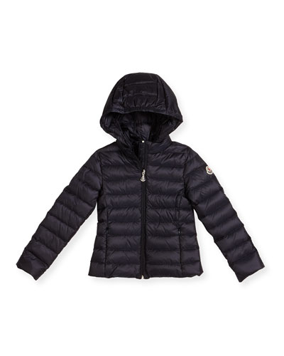Iraida Hooded Lightweight Down Puffer Jacket, Size 4-6
