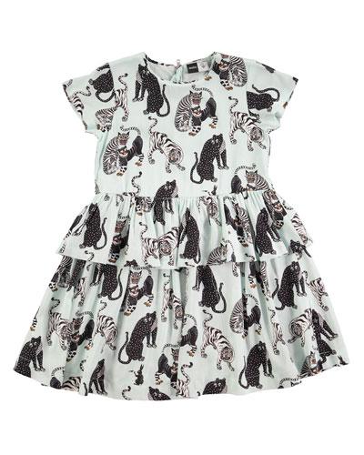 Caitlin Tiger-Print Dress, Size 2T-12