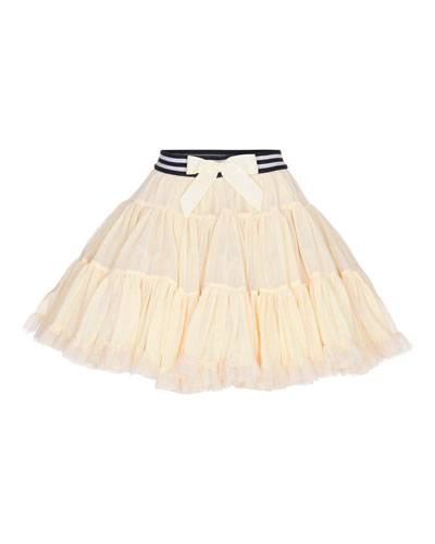 Bella Tiered Tulle A-Line Skirt, Yellow, Size S-M
