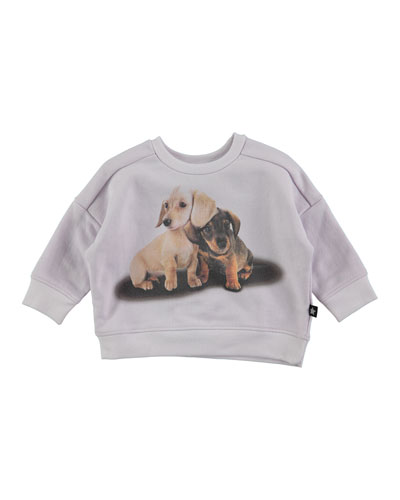 Dana Pullover Dachshund Sweatshirt, Light Purple, Size 12-24 Months